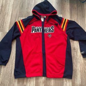 Vintage Reebok NHL FL Panthers Zip Hoodie Jacket X